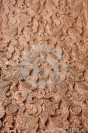 Intricate Moroccan stone work