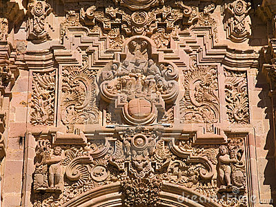 Intricate ornate carving