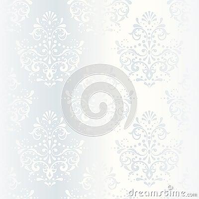 Free Intricate White Satin Wedding Pattern Stock Photography - 9775502