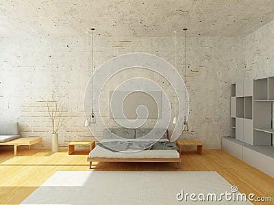 Chambre à Coucher Légère Dans Le Style Scandinave Photo stock , Image 69533863