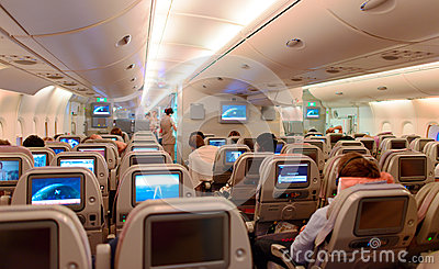 int rieur d 39 airbus a380 photographie ditorial image 51762982. Black Bedroom Furniture Sets. Home Design Ideas