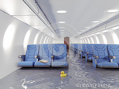 Int rieur d 39 avion d 39 inondation illustration stock image for Interieur avion