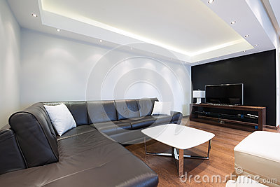 beau salon dun appartement de luxe photo stock image 54072861 - Un Salon De Luxe