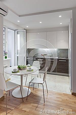 Int Rieur De Cuisine En Appartement Moderne Dans Le Style Scandinave Photo Stock Image 68311140