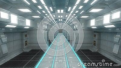 int rieur de vaisseau spatial vue centrale avec le plancher illustration stock image 45512633. Black Bedroom Furniture Sets. Home Design Ideas