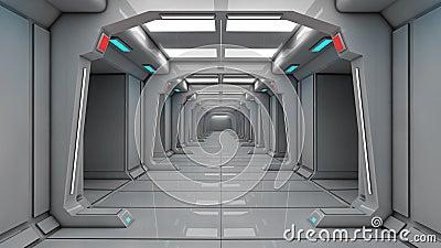 int rieur de vaisseau spatial vue centrale avec le plancher. Black Bedroom Furniture Sets. Home Design Ideas
