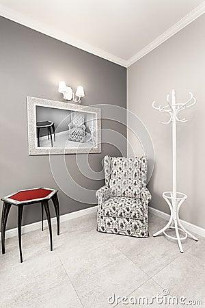 Int rieur gris et blanc de luxe photo stock image 42559044 - Interieur gris et blanc ...