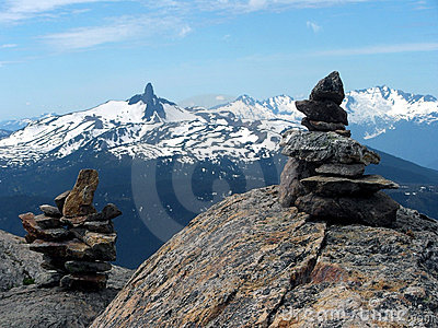 Inukshuk at Mt Whistler summit.