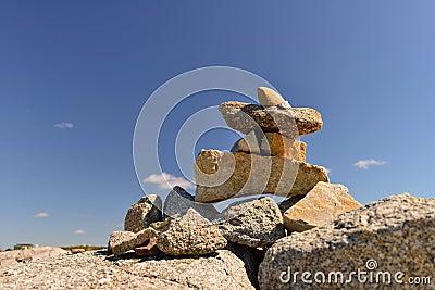 Inukshuk stones