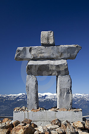 Inukshuk on Whistler Mountain