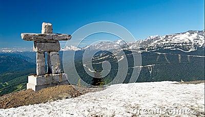 Inukshuk at Whistler Mountain