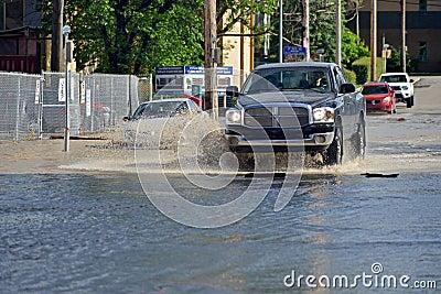 Inundação 2013 de Calgary Imagem Editorial