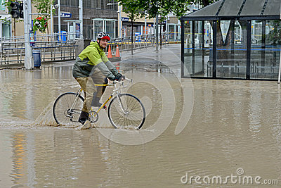 Inundación 2013 de Calgary Imagen de archivo editorial