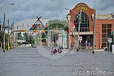 Inundación 2013 de Calgary Foto de archivo editorial