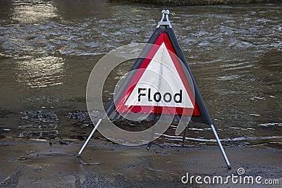 Inundación de Yorkshire - Inglaterra Imagen de archivo editorial