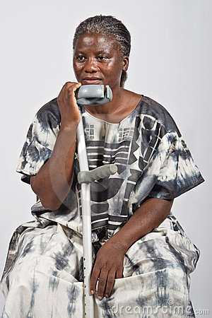 Free Invalid Old African Woman Royalty Free Stock Images - 5106359