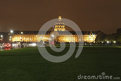 Invalides at night, Paris