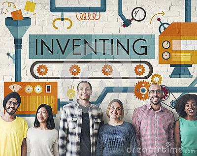 Inventing Compose Discover Production Concept Stock Photo
