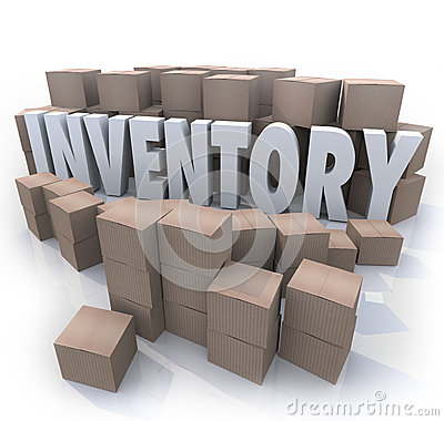 Free Inventory Word Stockpile Cardboard Boxes Surplus Stock Photo - 27002940