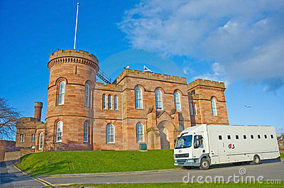 Inverness Castle and Prison van. Editorial Stock Image