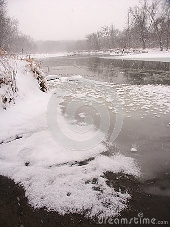 Inverno in Illinois del Nord.