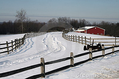 Inverno sull azienda agricola