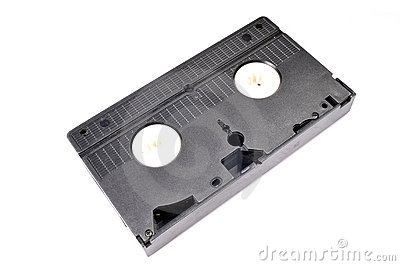 Inverted old vhs tape