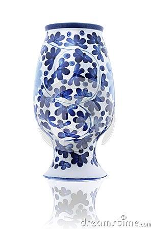 Inverted Porcelain Vase