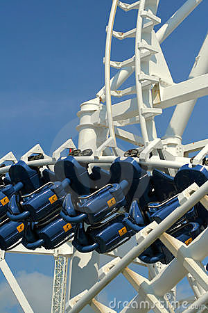 Free Inverted Roller Coaster Royalty Free Stock Image - 6264436