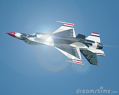Inverted USAF Thunderbirds