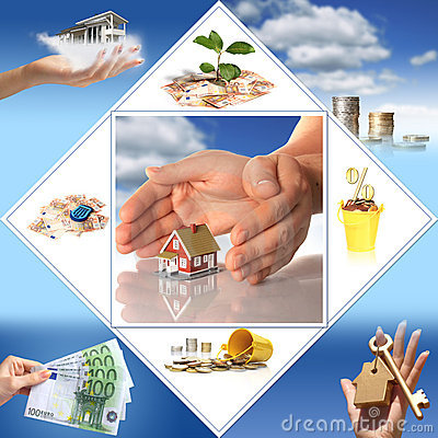 Free Invest In Real Estate. Business Collage. Stock Image - 9317441