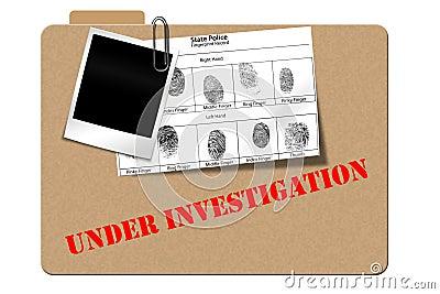 Detective case file book reports folder