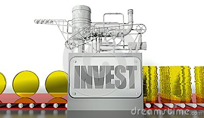 Investment concept with money machine