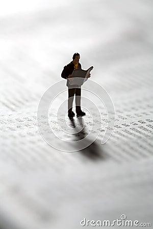 Investor checking market updates