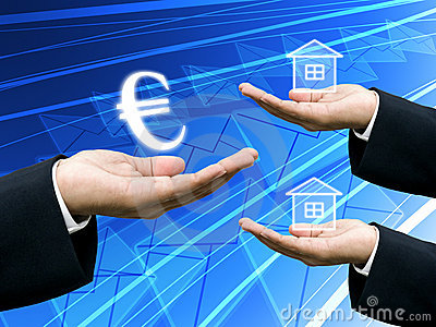 Investor hold the Euro money for building industry