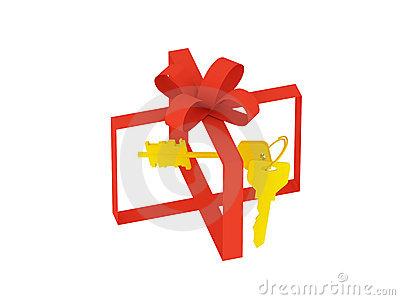 Invisible gift box with keys