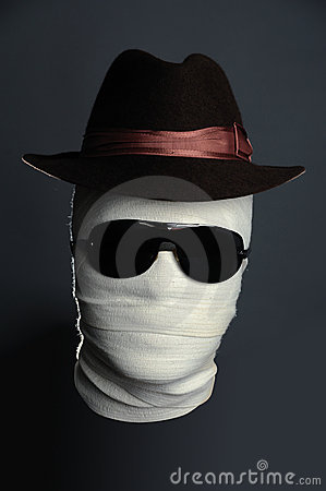 Invisible man in hat