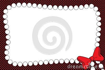 Invitación o marco del collar de la cinta y de la perla