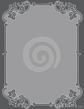 Invitation background ornamental frame