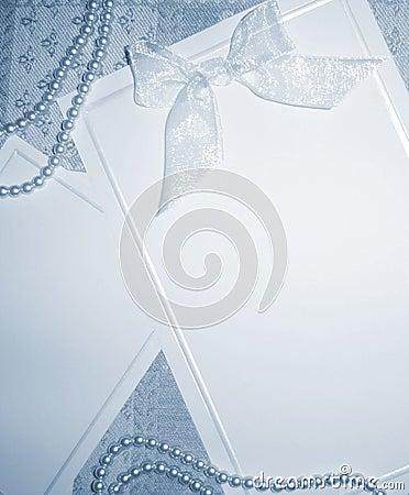 Invitation blanc - son bleu
