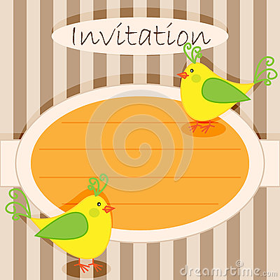 Invitation card-birds