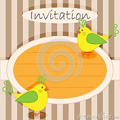 Invitation card-birds