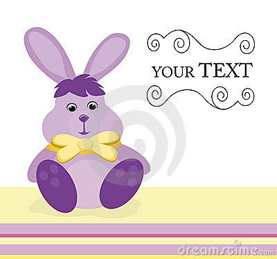 Invitation card with bunny