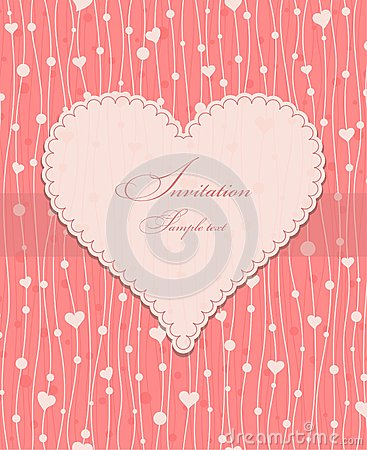Invitation card with a heart