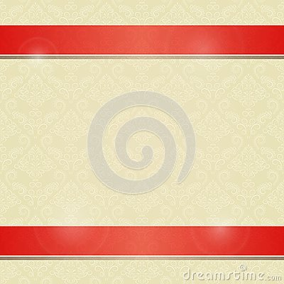 Invitation Card with Horizontal Red Line Decoration