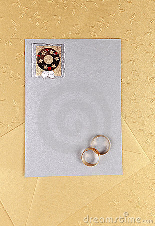 Invitation card  or menu for wedding