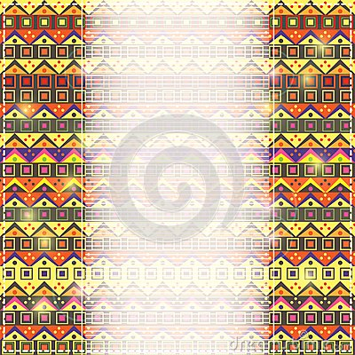 Invitation Card with place for Text and African Ethnic Patter