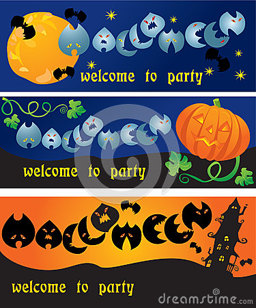 Invitation cards to Halloween party