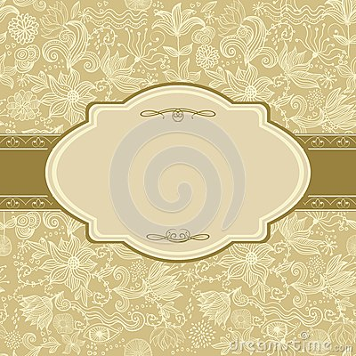 Invitation floral card in vector