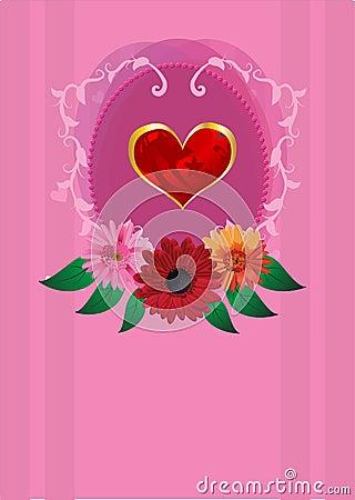 Invitation romantic card